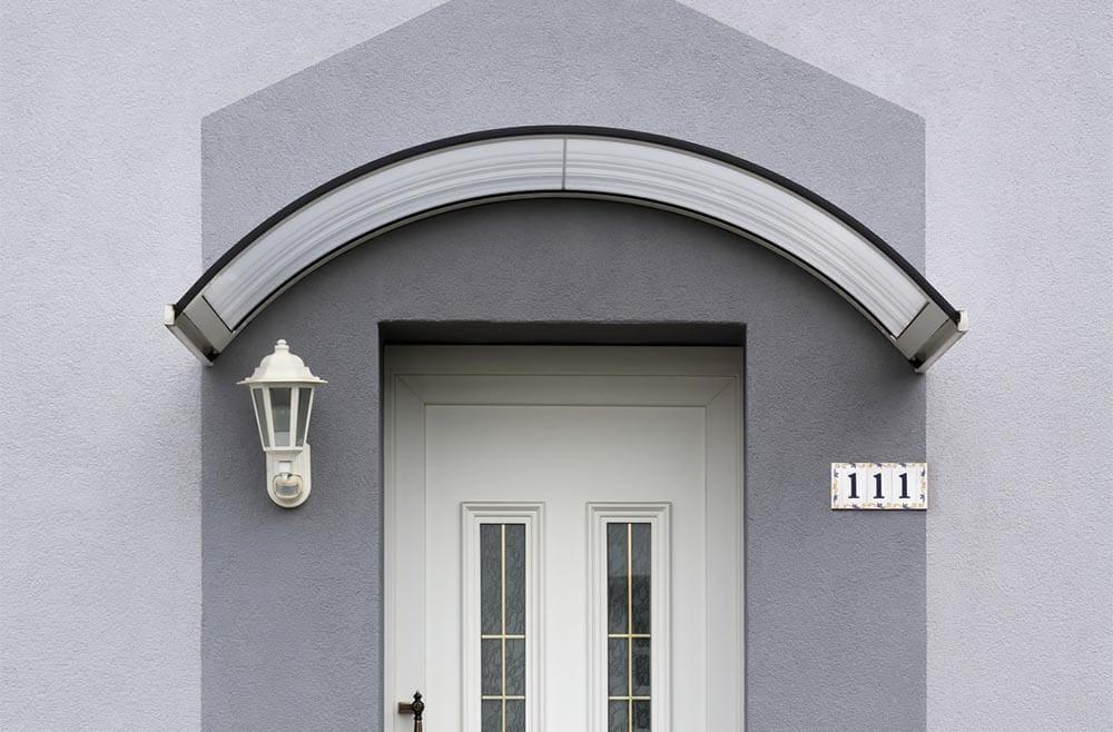 Poser une marquise de porte du0027entrée - poser porte d entree