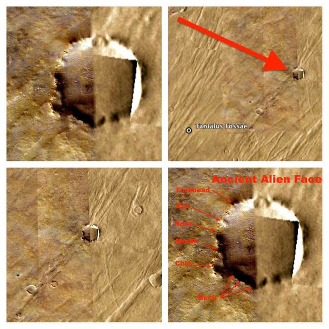 Giant Cube Discovered In Mars Crater And Many Entrances Underground, Video