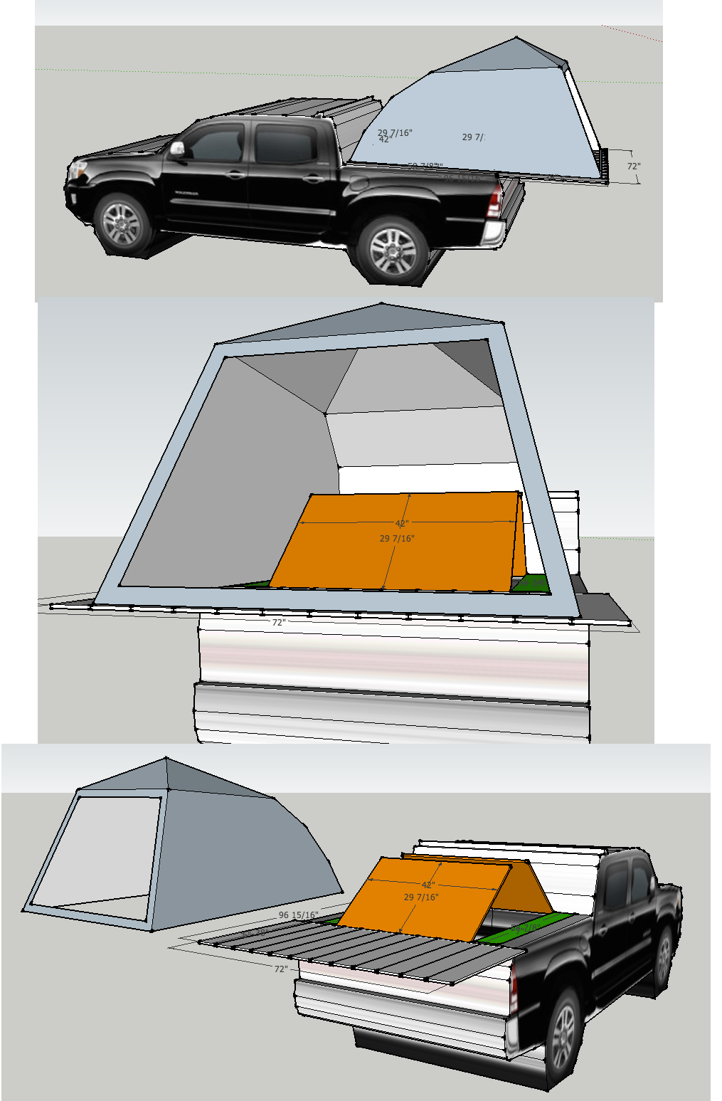 Truck Box And Tent Platform For Toyota Tacoma Quad Cab 5