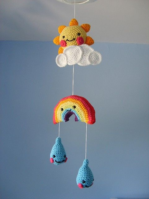 Kawaii Crochet Mobile