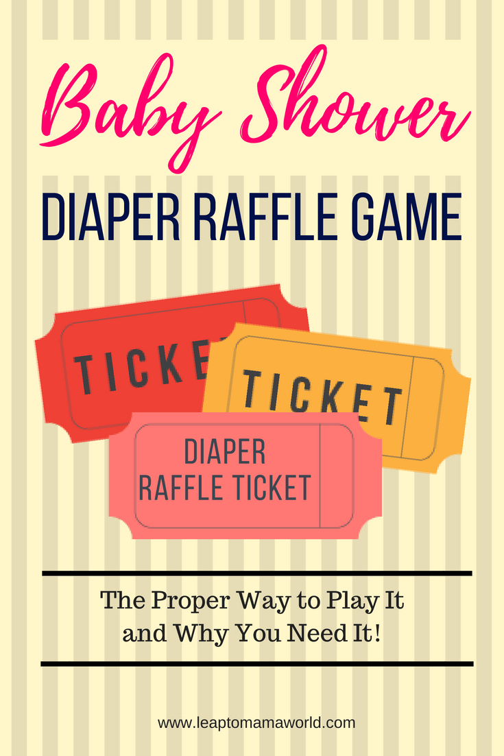 Baby Shower Diaper Raffle Game The Proper Way to Play