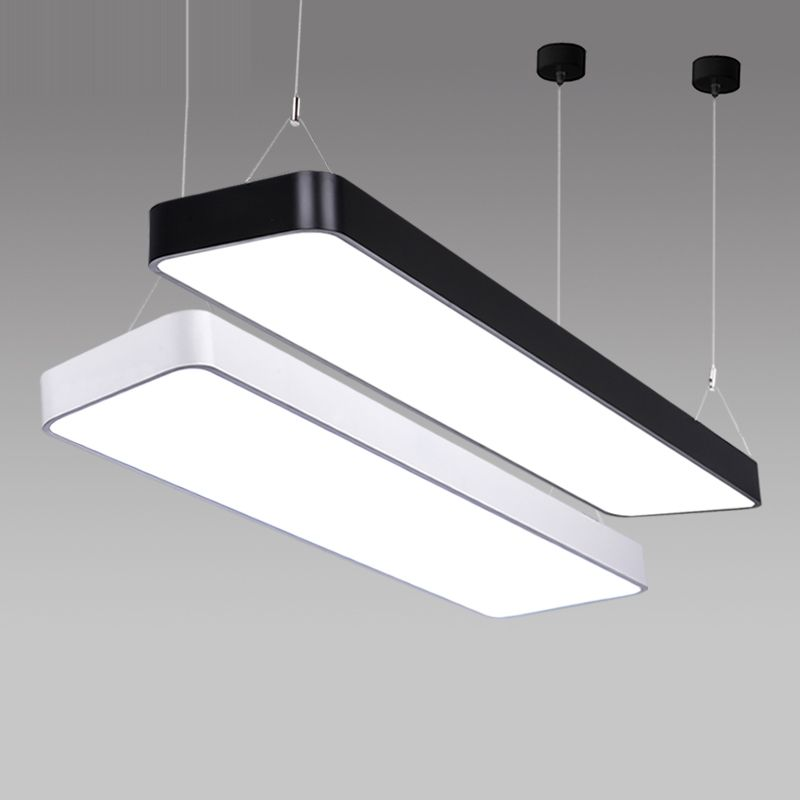 Lx220 study office modern led ceiling pendant lamp rectangle lx220 study office modern led ceiling pendant lamp rectangle suspended pendant light fixtures home white light mozeypictures Choice Image