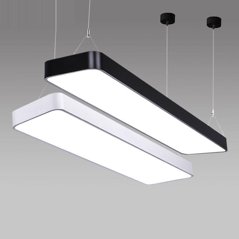Lx220 Study Office Modern Led Ceiling Pendant Lamp Rectangle