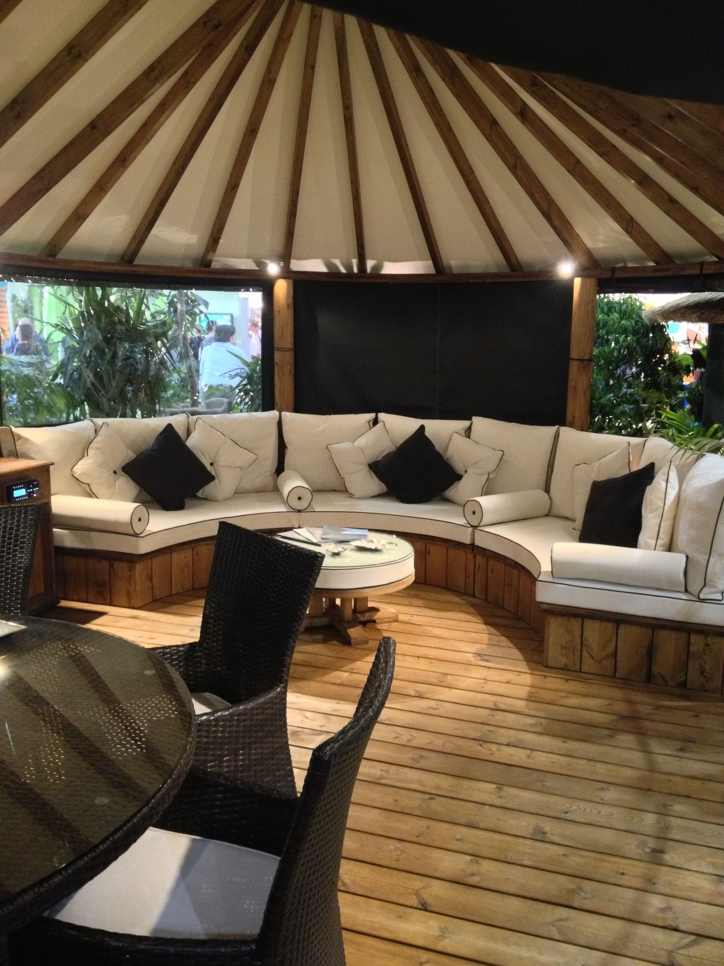 beautiful outdoor garden chill out area found at grand designs