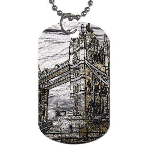 "Metal Art London Tower Bridge. Metal Art London Tower Bridge Dog Tag (Two Sides). Dog tags are cool accessories that can be worn as fashion wear or used as a complimentary item. Originally designed as military uniform, now they can designed with pictures and writing, fitted to your specifications.Made from lightweight aluminum.Design images are covered in a clear enamel coating to prolong its longevity.Measures approximately 1.25""(w) x 2""(h).30"" aluminum ball chain included"