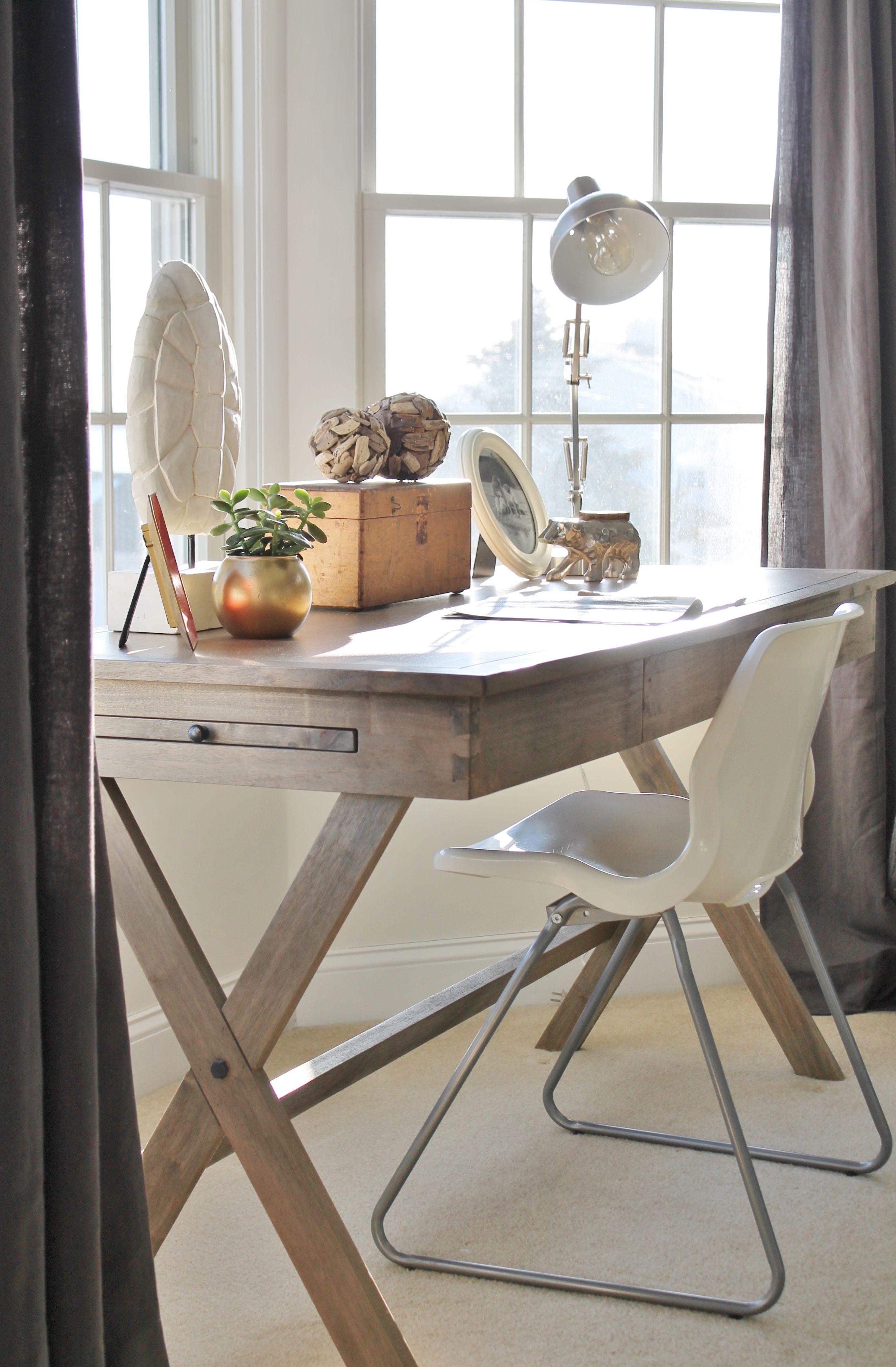 Rustic Chic Mini Master RevealMy Desk Bedroom desk