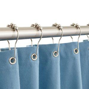 Blue Crystal Shower Curtain Hooks