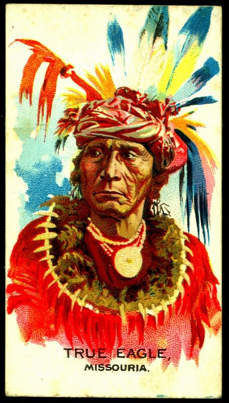Cigarette Card - Indian Chief, True Eagle   par cigcardpix