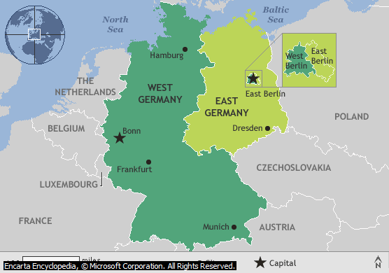 Map Of East Germany West Germany.Map Of Divided Germany Berlin Berlin Wall Divided