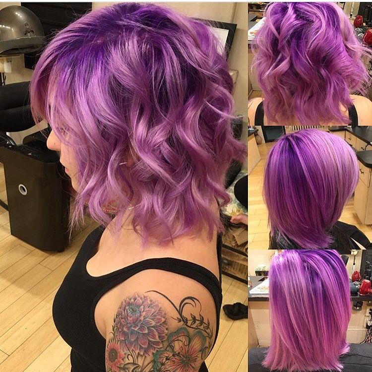 Purple Ombre Hair Shoulder Length Hair Lavender Hair Shadow Root