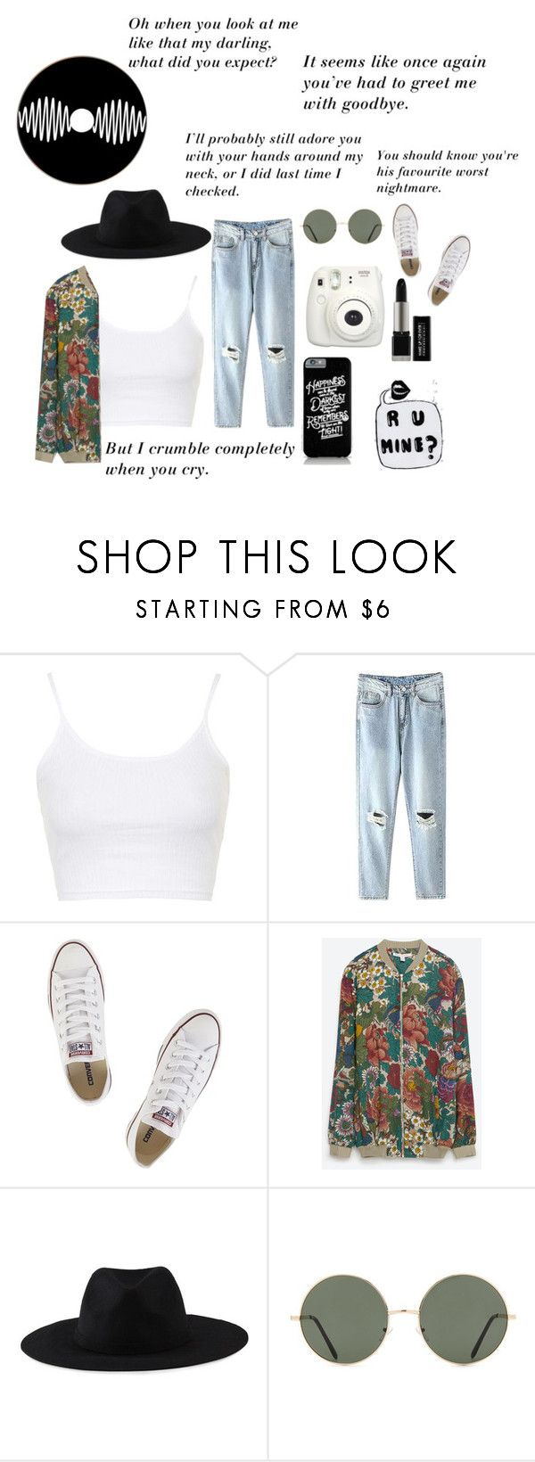 """""""arctic monkeys"""" by mariacostaaa ❤ liked on Polyvore featuring Topshop, Converse, Zara, Element and Forever 21"""
