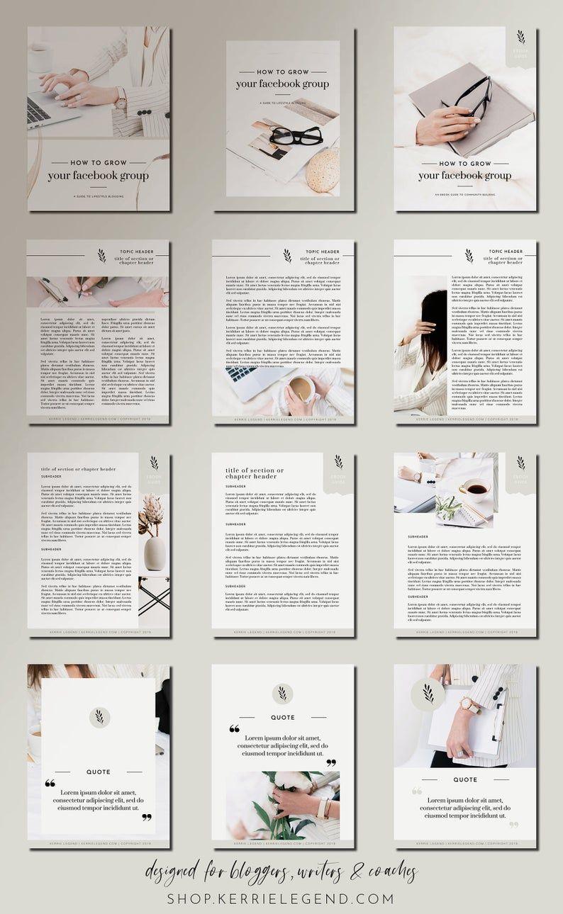 eBook & Workbook Canva Template Design - Lady Boss
