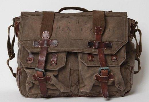 14 x 12 x 2.5 Leather Messenger Bag  Laptop Bag Ready to Ship Vintage Look Crazyhorse Brown