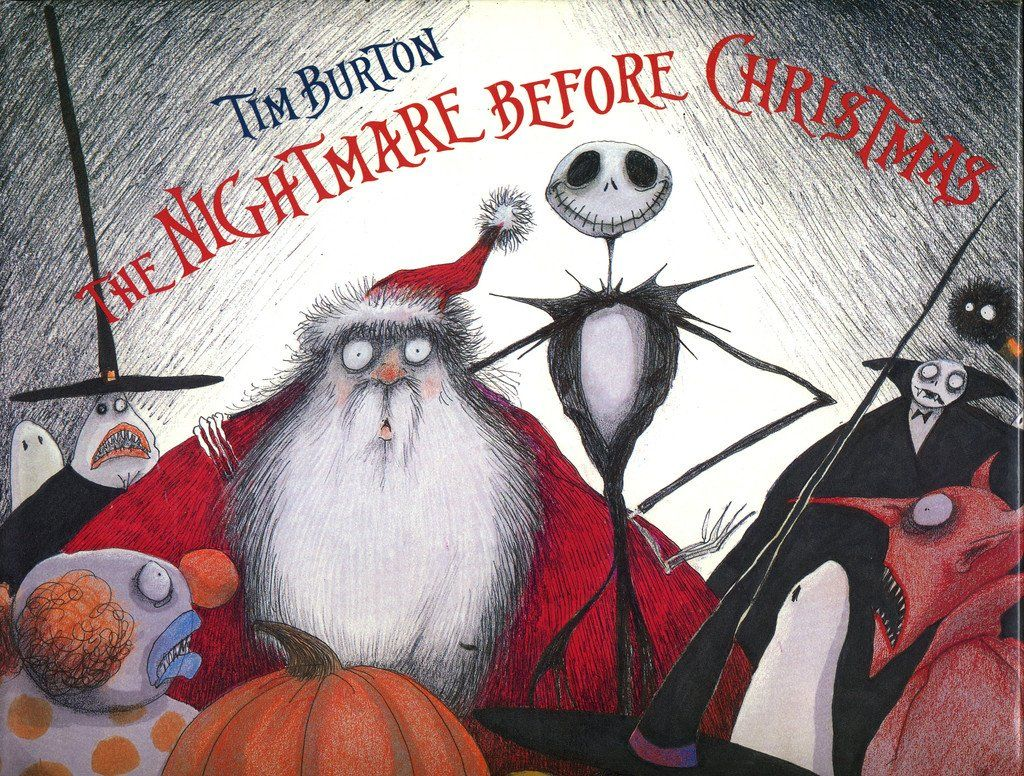 1993 Nightmare Before Christmas Hard And Softcover Books