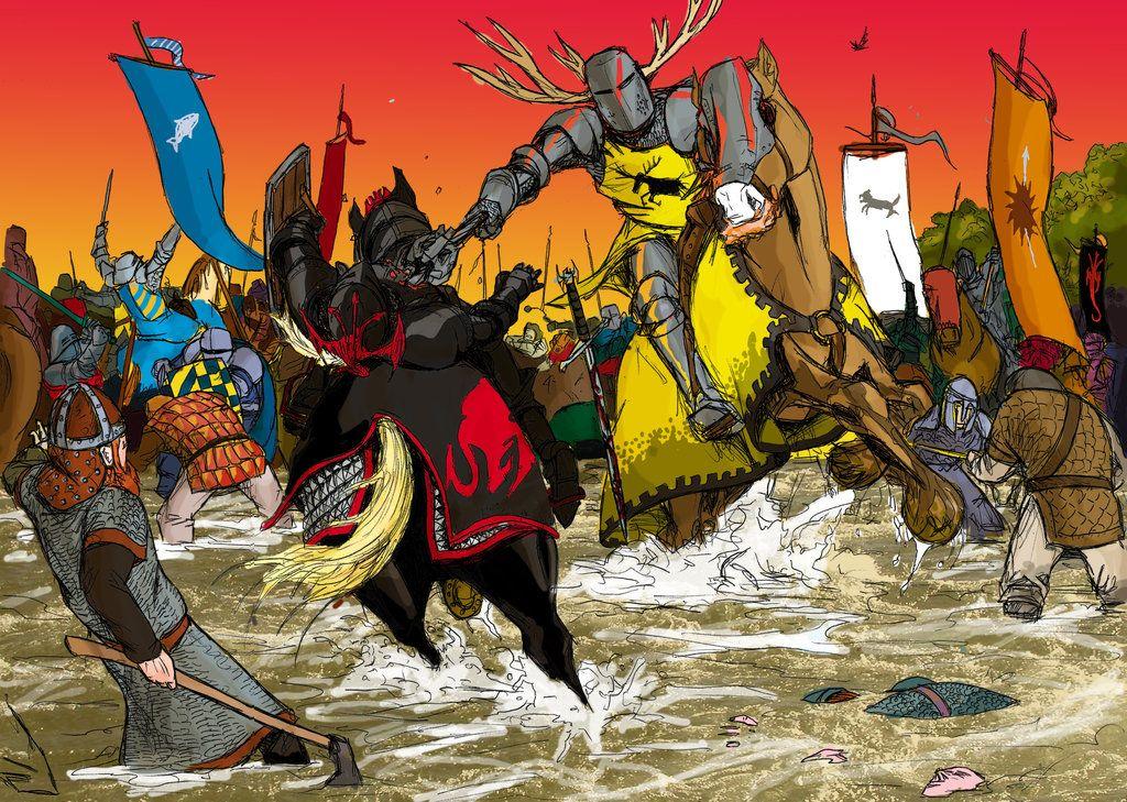 robert baratheon vs rhaegar targaryen at ruby ford by artist