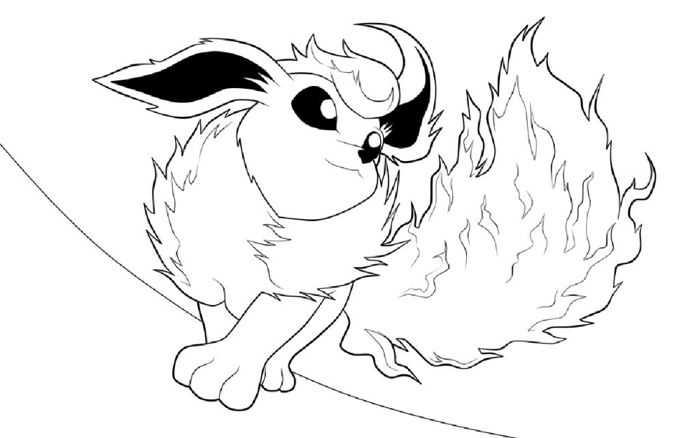 flareon coloring pages free download educative printable in 2020 coloring pages pokemon coloring pages pokemon coloring pinterest