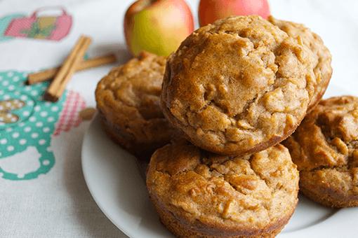 Appel- en kaneelmuffins