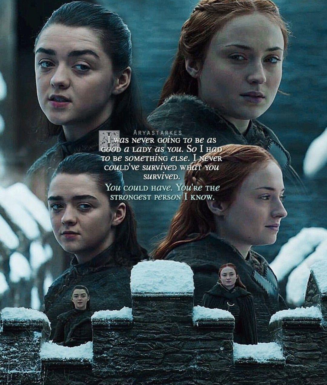 Sansa And Arya Season 7 Game Of Thrones Sansa Game Of Thrones Quotes Sansa Stark Quotes