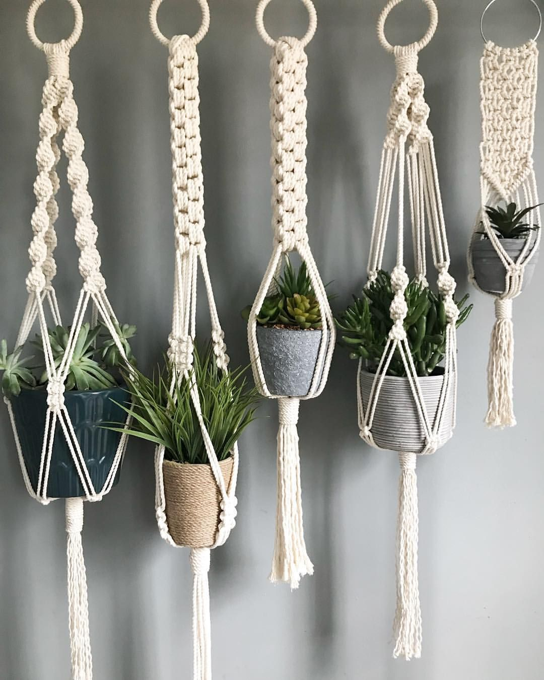 pin by knotly on macrame plant hangers macram macrame. Black Bedroom Furniture Sets. Home Design Ideas