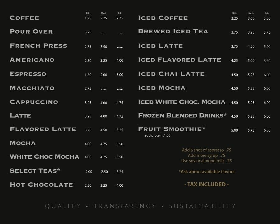 coffee shop menu board design - Google Search Menu Boards - coffee menu
