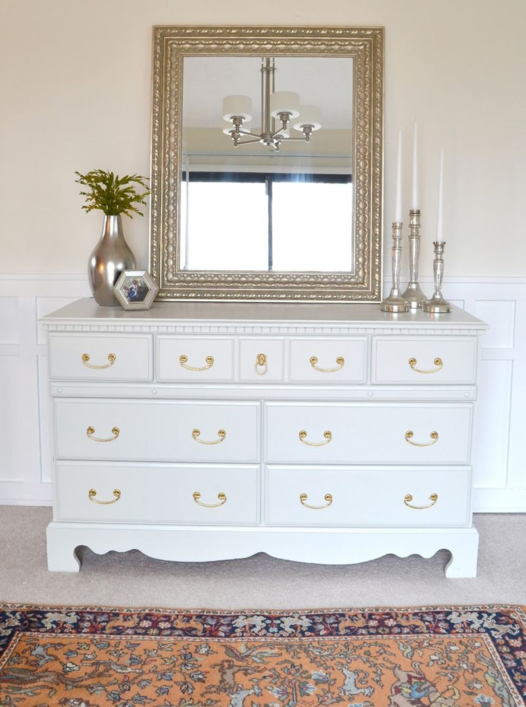 Homemade Dresser Makeover 04 Painting Furniture White Paint Bedroom