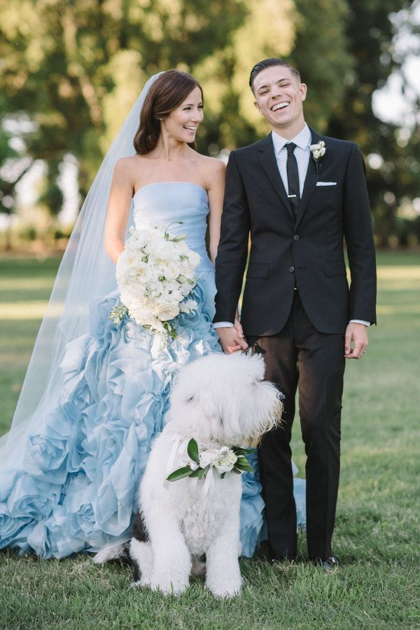 cb6c5af5844 25 Dreamy Blue Wedding Dresses That Stand Out In A Sea Of White ...