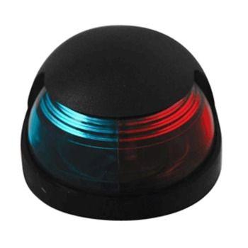 Attwood Quasar™ 2-Mile Deck Mount, Bi-Color Red/Green Combo Sidelight - 12V - Black Housing