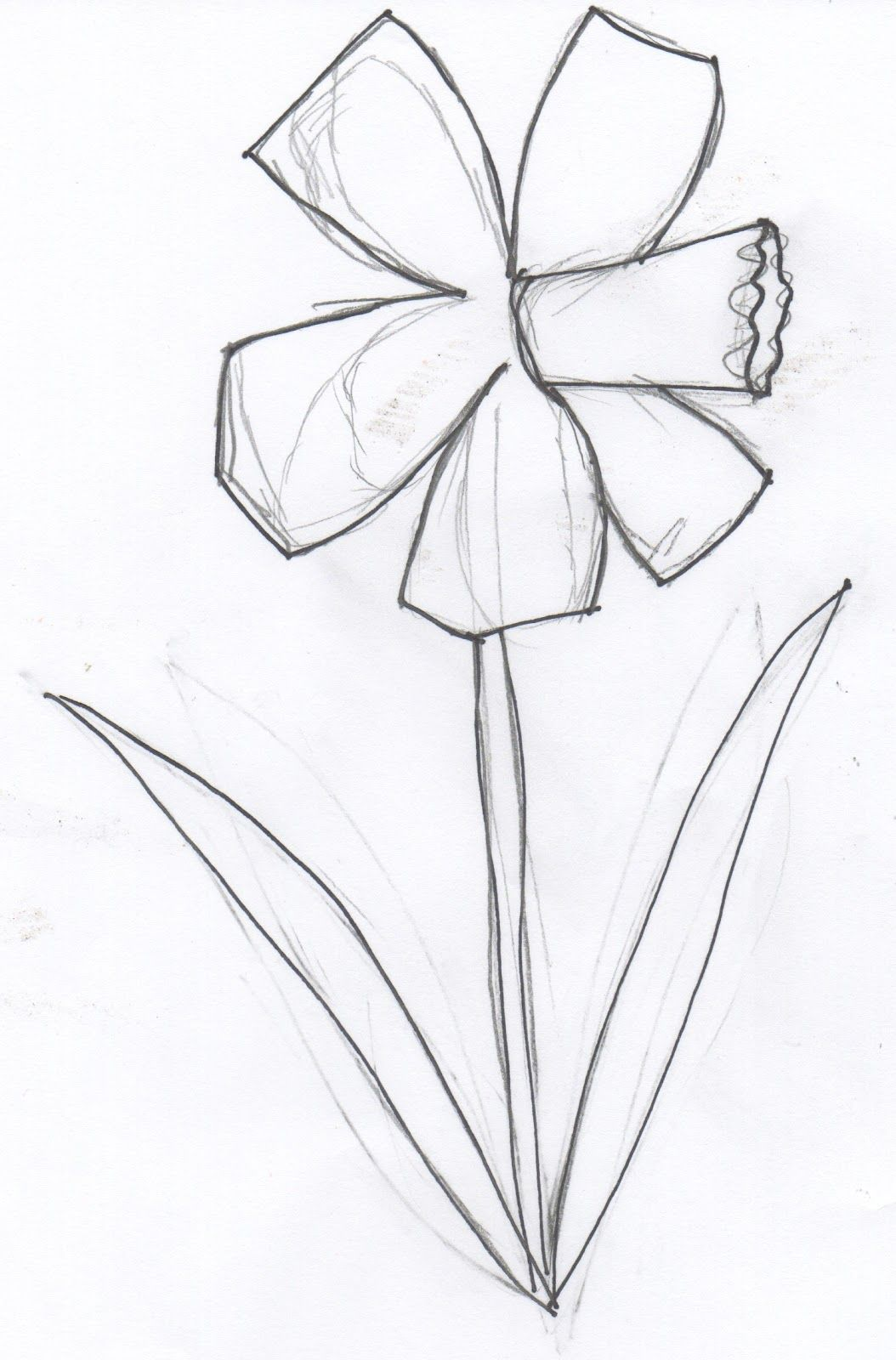 Daffodil template printable pictures projects to try for Template of a daffodil