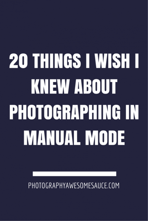 dslr manual mode for beginners