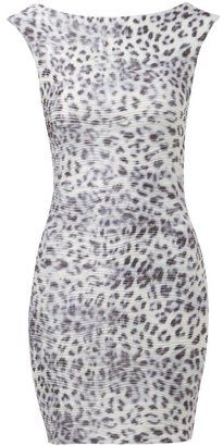 155c29e7a1d6 ShopStyle: Lipsy. ShopStyle: Lipsy Grey Animal Print Bodycon Dress ...