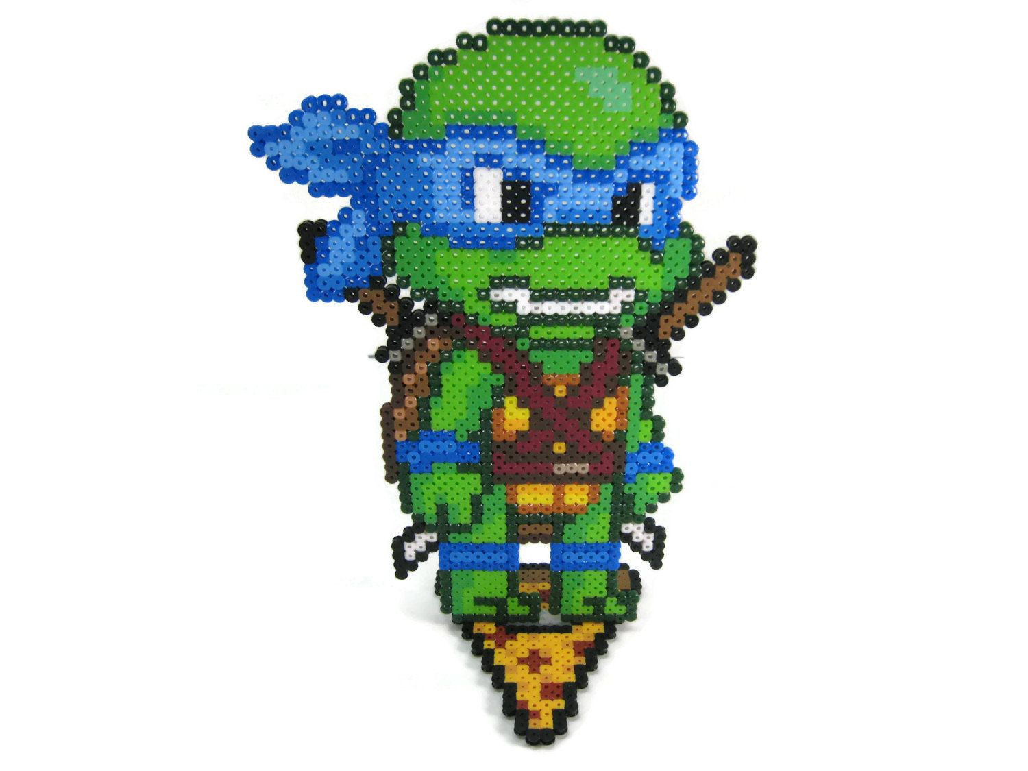 Superb Teenage Mutant Ninja Turtles Perler Bead Sprite Character Figure By  GeekMythologyCrafts