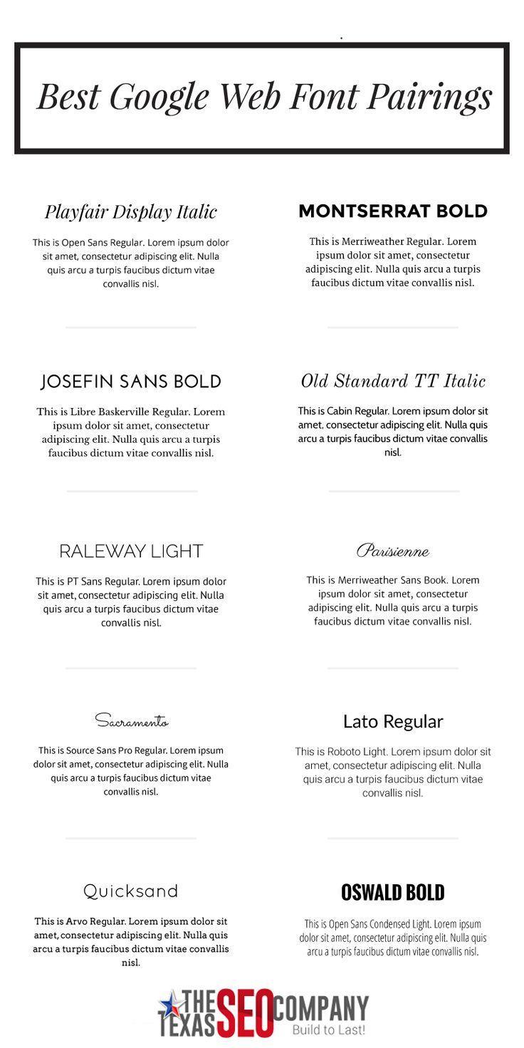 Best google web font pairings   white oak creative   google font.
