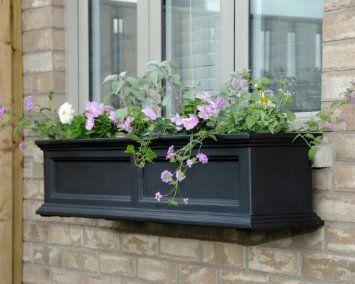 Amazon.com: Mayne Fairfield 5822B Window Box Planter, 3-Foot, Black: Patio, Lawn & Garden