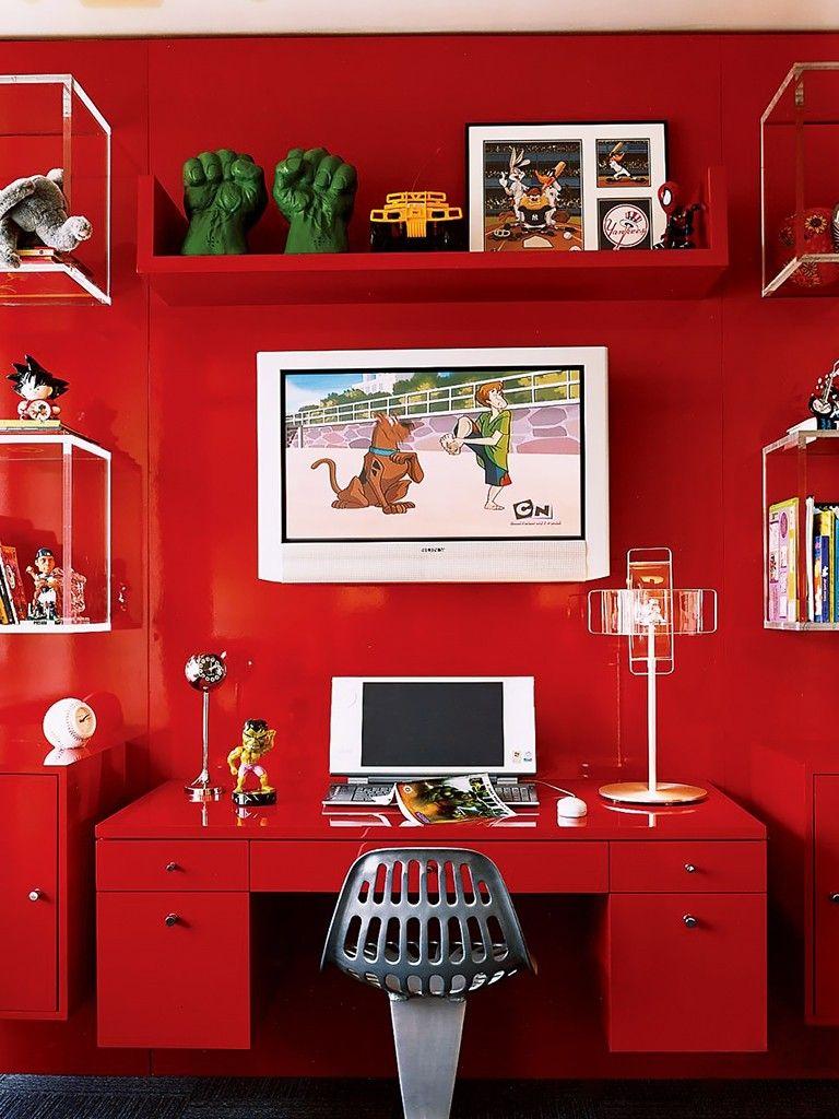Escrivaninha Infantil em Vermelho