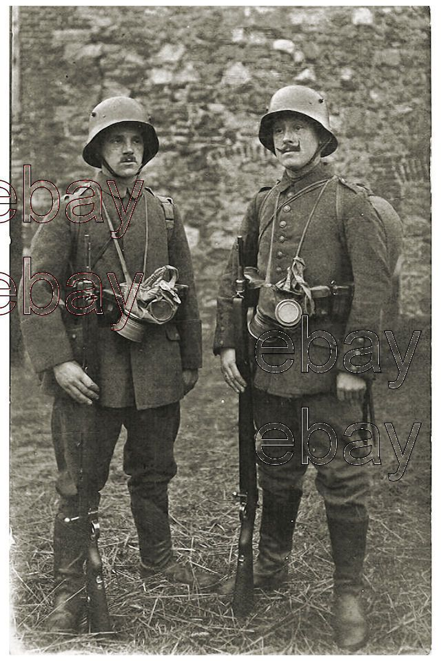 9a9ad4eb2b9 Details about WW1 German Soldiers Stahlhelm Rife Gas Masks WWI ...