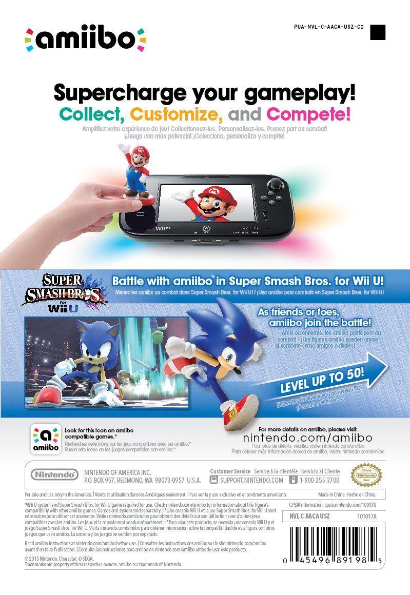 Sonic Amiibo Super Smash Bros Series Super Amiibo Sonic Series Smash Bros Super Smash Bros Amiibo