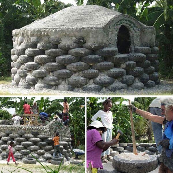 สถาปนิกรุ่นใหญ่ออกแบบ 'บ้านกันแผ่นดินไหวจากยางรถยนต์' ให้เฮติ