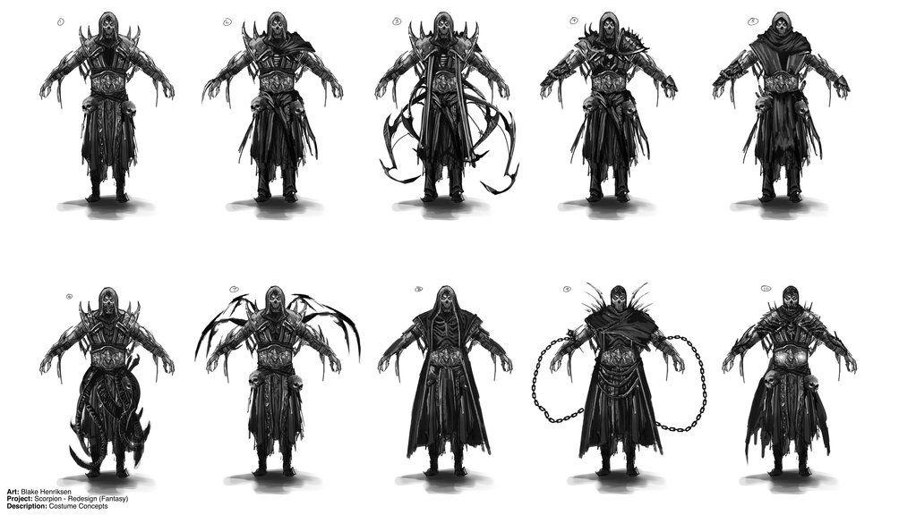 mortal kombat scorpion costume redesigns by pinkhavok - Mortal Kombat Smoke Halloween Costume
