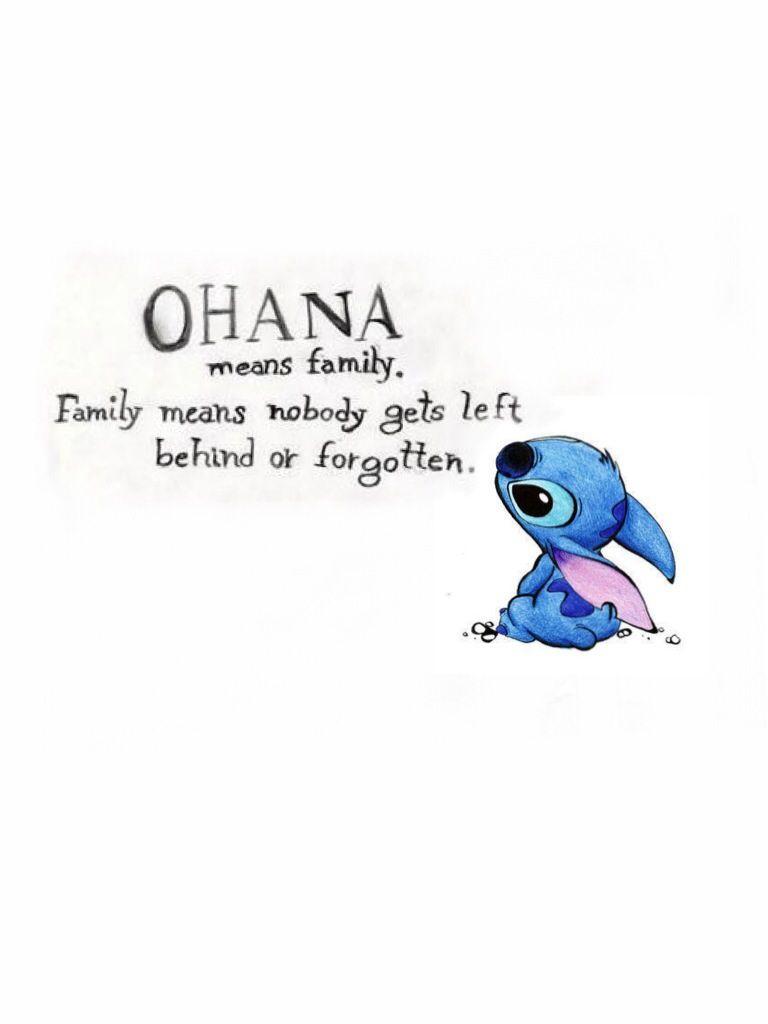Ohana Means Family Quote Tattoo: Ohana Tattoo Design