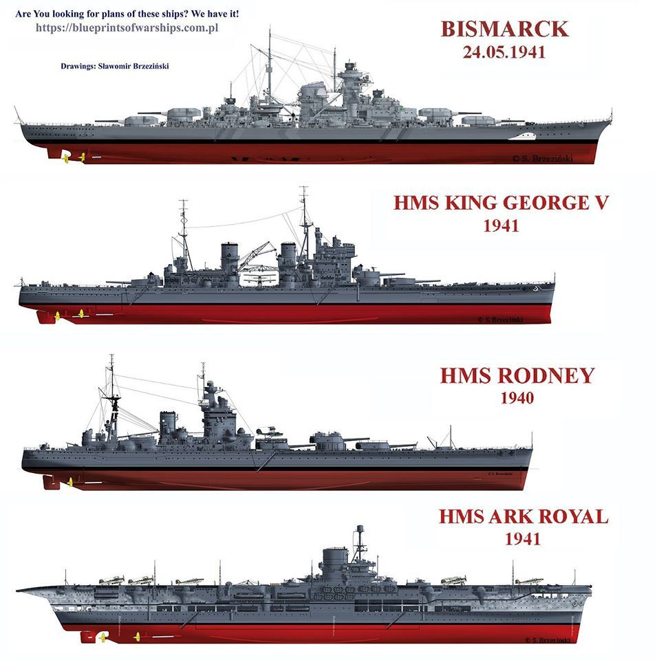 bismarck with her ultimate conquerors in may 1941 warships