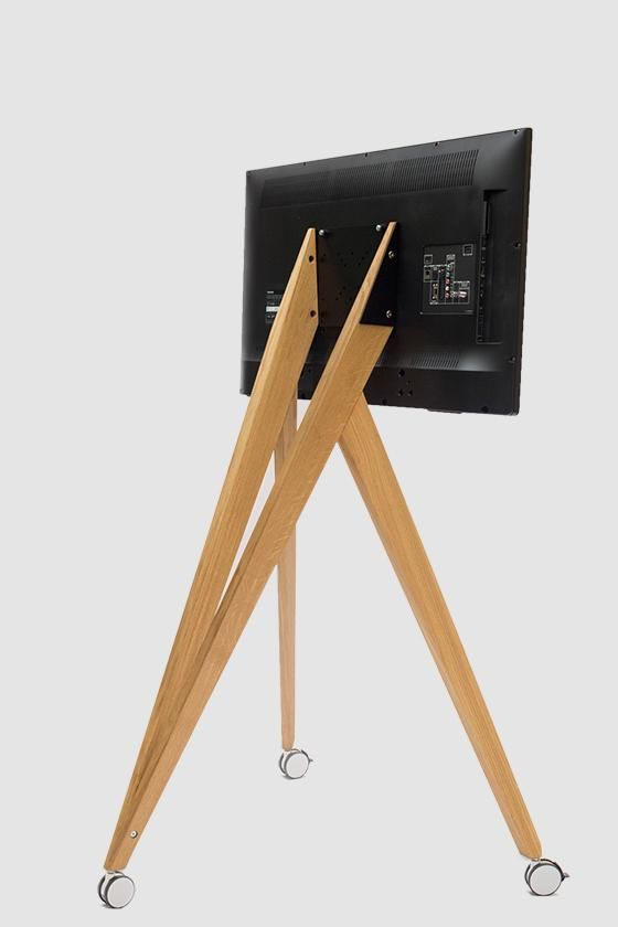 Screen Rack Monitor Stand Wood Design Mobile Front Row On Tour