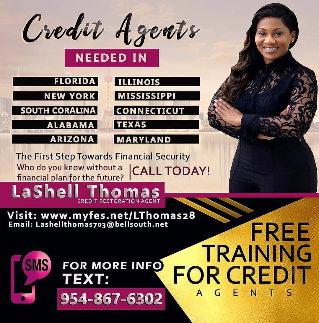 Here is Your OPPORTUNITY! BUSINESS...CREDIT AGENTS NEEDED