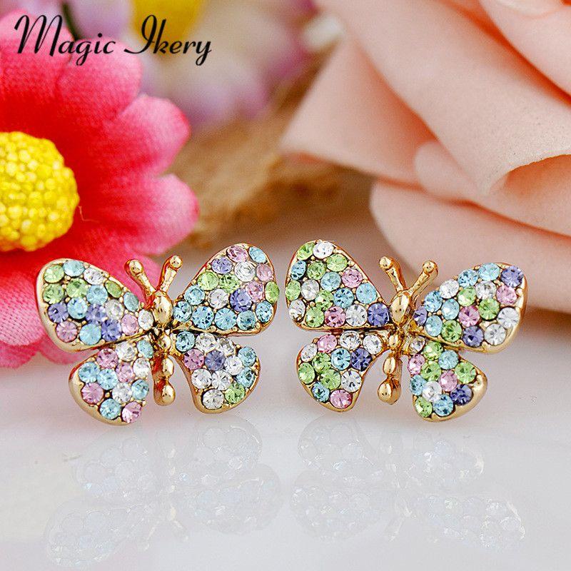 Boucle d'oreille papillon pas cher