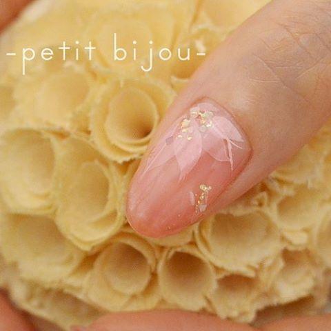 水菓子~花びら~  #ネイル #ネイルアート #petitbijou_nail #nail #nailart #art #水菓子 #水中花 #instanailart #instanail #作品