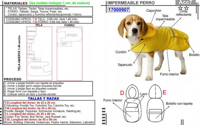 Capa con Capucha para mascota | Pinterest | Capa con capucha, Ropa ...