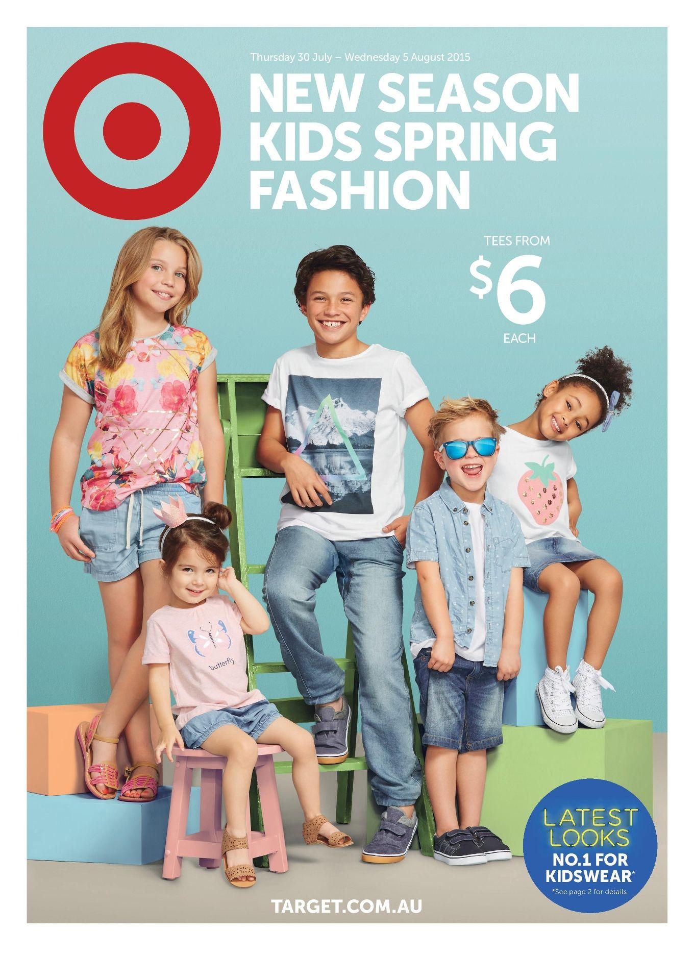 efe2ad71 Target 'New Season Kids Spring Fashion' catalogue. Sale valid 30 July - 9