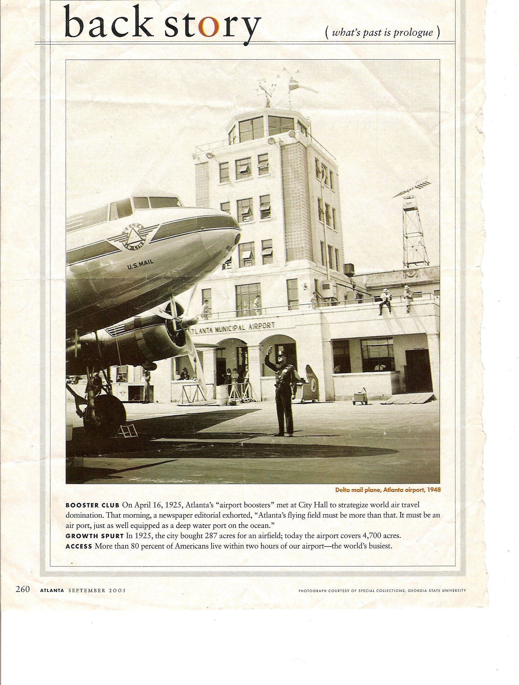 ATLANTA AIRPORT Atlanta airport, Vintage airlines