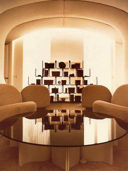 pierre paulin smoking lounge elysee palace 1971 interior interior design vintage. Black Bedroom Furniture Sets. Home Design Ideas