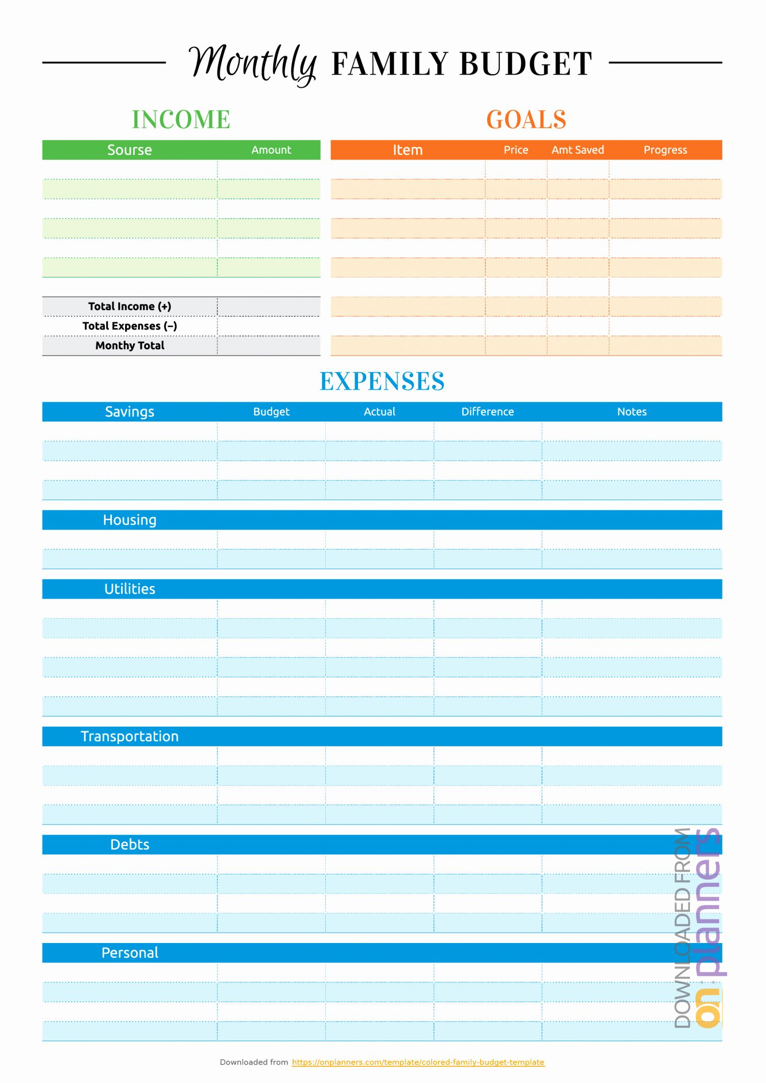 Simple Weekly Budget Template New Free Printable Simple