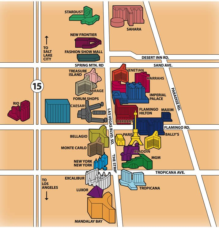 Map Of Hotels On The Las Vegas Strip Yahoo Image Search Results